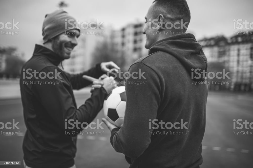 Fair play handshake after game stock photo