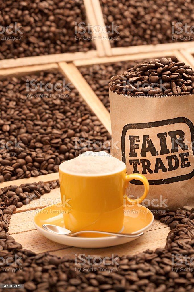 Fair trade coffee beans royalty-free stock photo