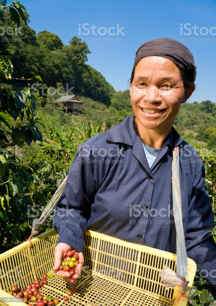Fair Trade Coffee Farmer stock photo