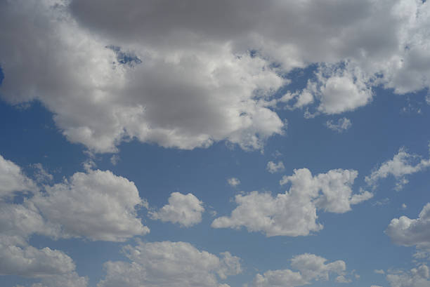 Fair weather clouds in the sky stock photo