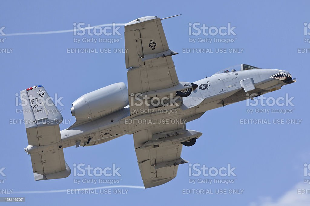 Fairchild A-10 Thunderbolt II royalty-free stock photo