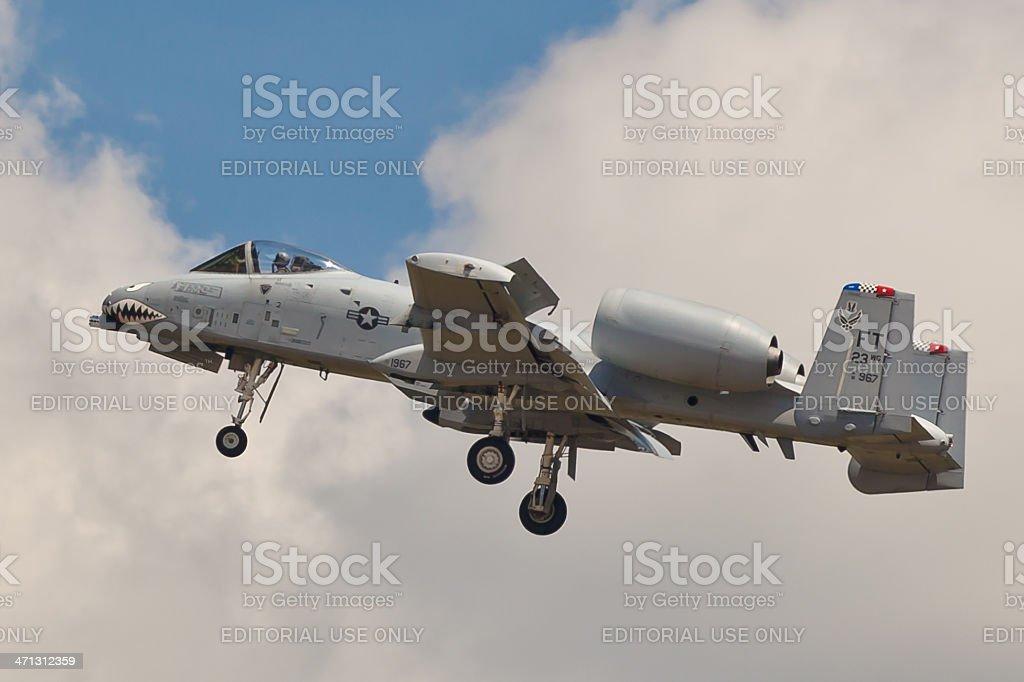 Fairchild A-10 Thunderbolt II stock photo