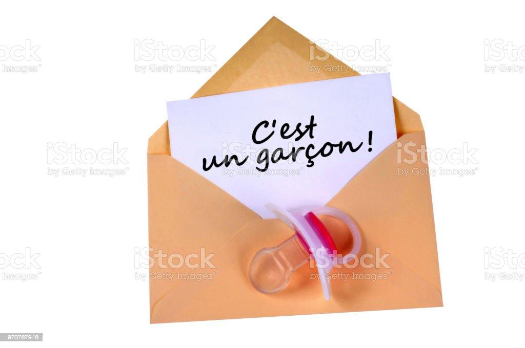Fairepart De Naissance Dun Garcon Stock Photo Download Image Now Istock