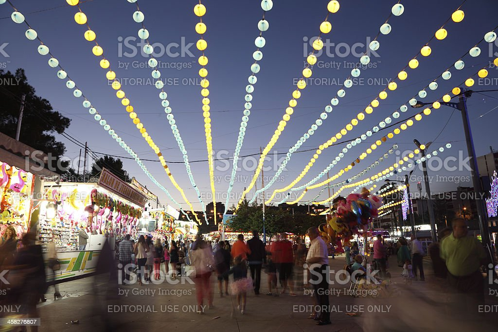 Fairground at night royalty-free stock photo