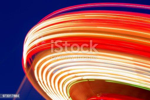 Fairground at night, long exposure