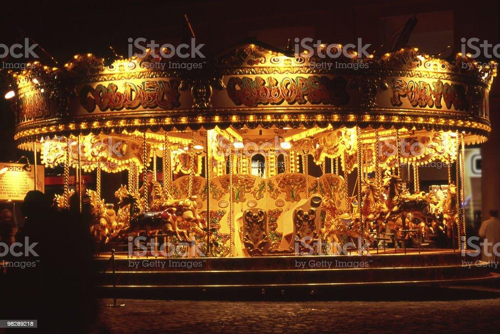 Fairground Carousel at night royalty-free stock photo