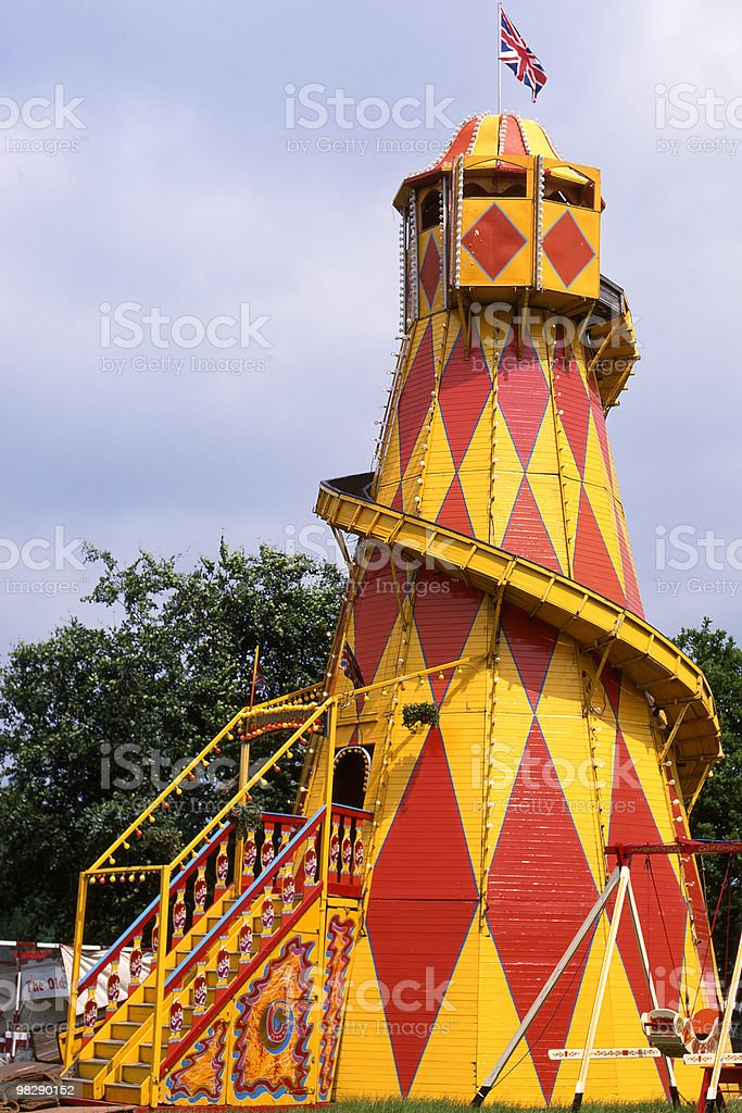 Fairground Helter Skelter royalty-free stock photo