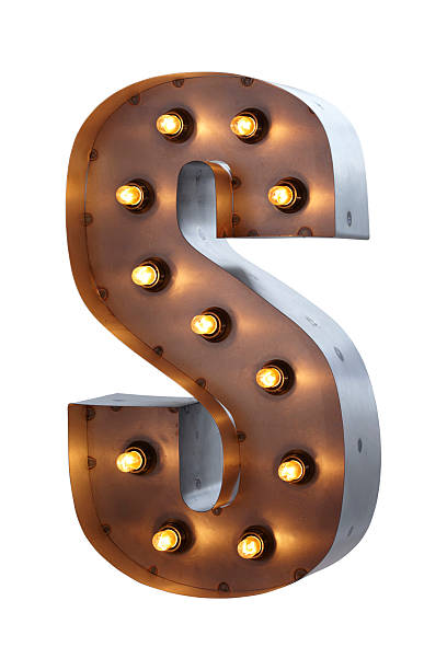 Fairground Lights letter S stock photo