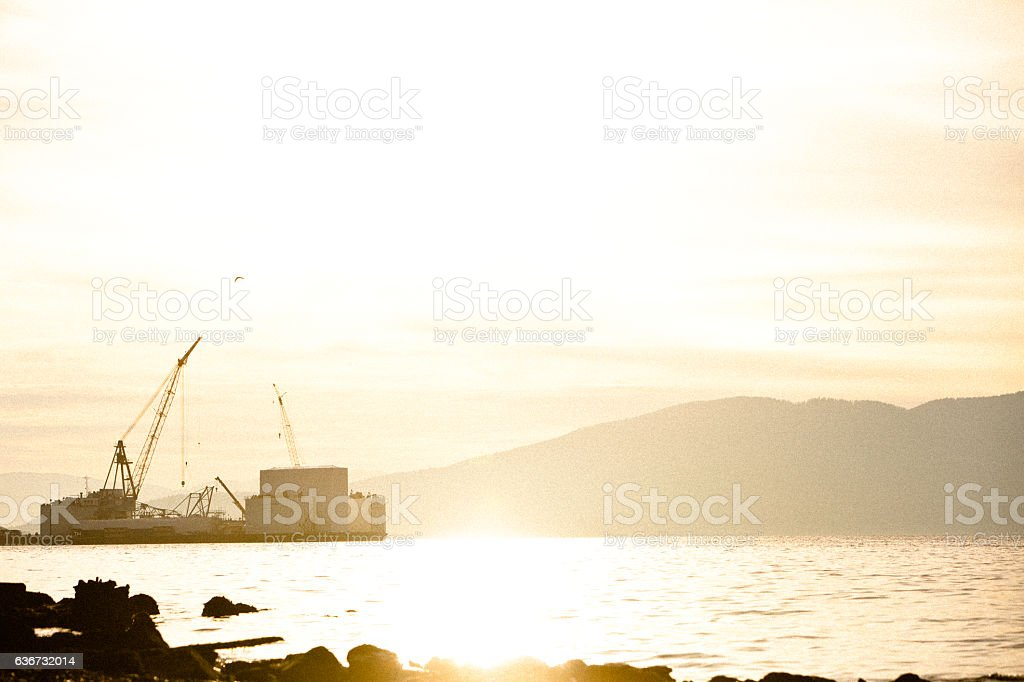 Fairhaven shipyard stock photo