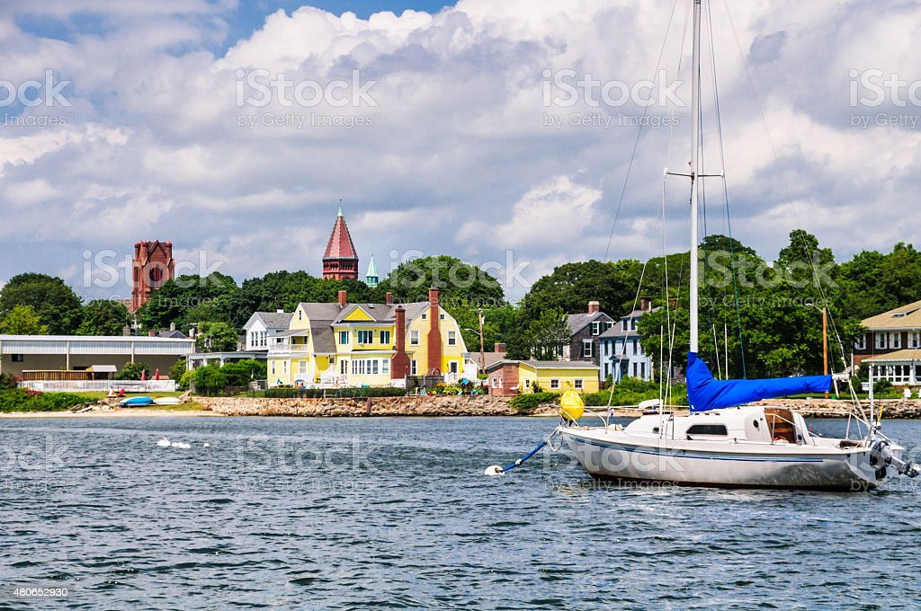 Fairhaven Skyline stock photo