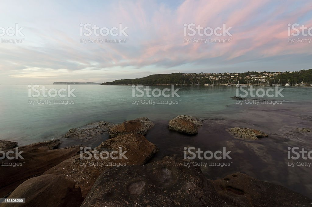 Fairlight Beach NSW at Sunrise stock photo
