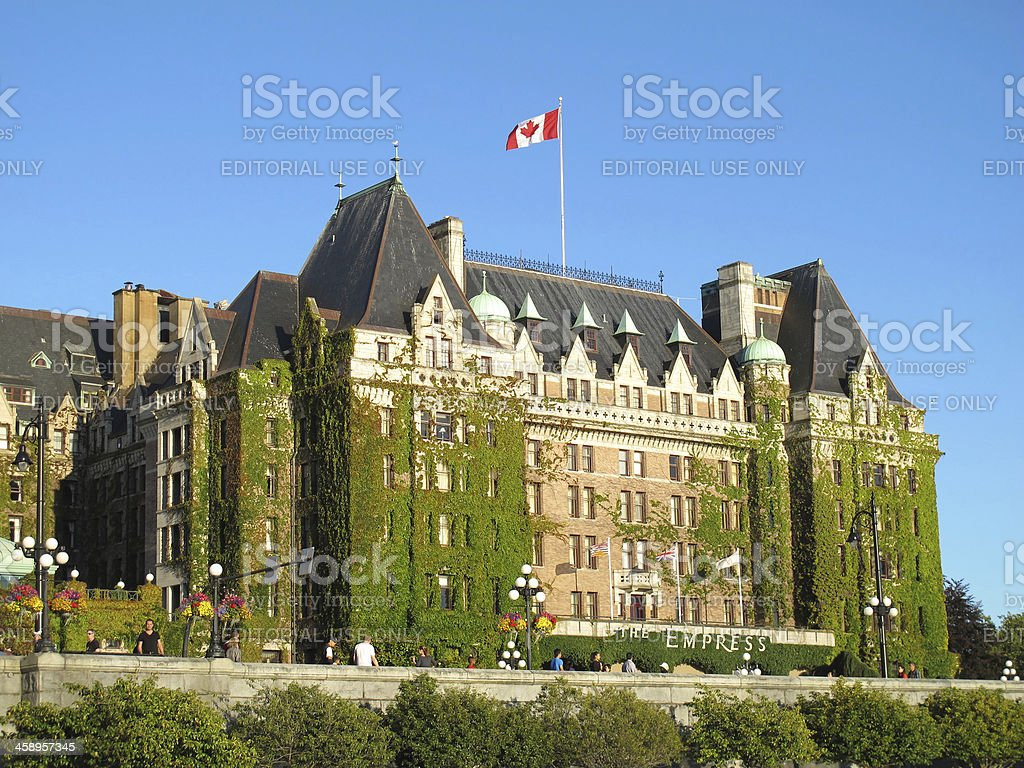 Fairmont Empress Hotel at Victoria's Inner Harbour stock photo