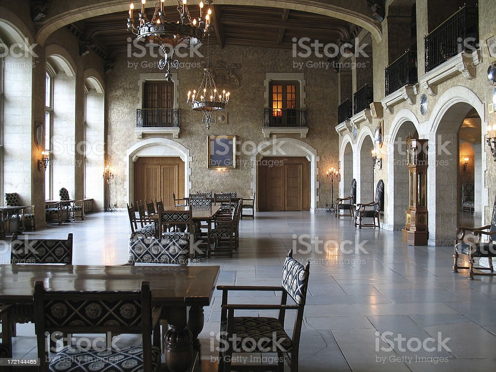 Fairmont Springs Banff Dining Hall royalty-free stock photo