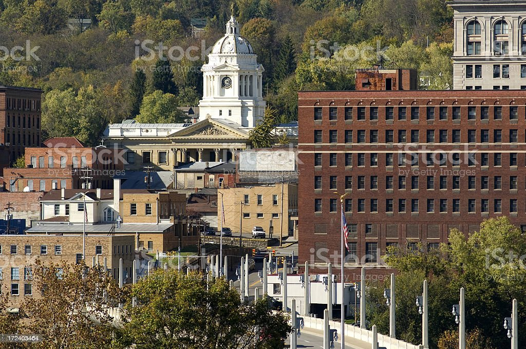 Fairmont, West Virginia, downtown stock photo