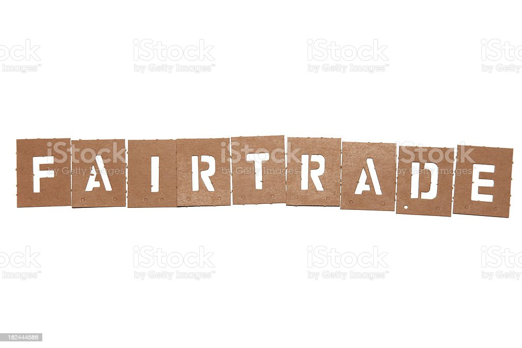 Fairtrade stencil word royalty-free stock photo