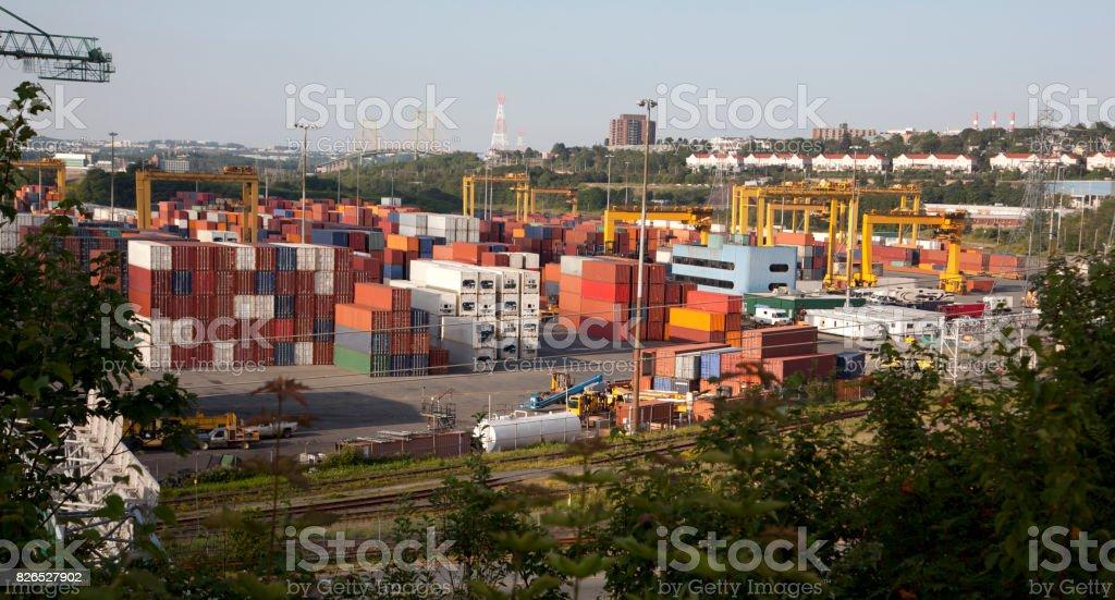 fairvew container pier, Halifax, Nova Scotia stock photo