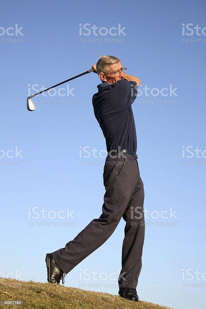 Fairway Golf Stroke royalty-free stock photo