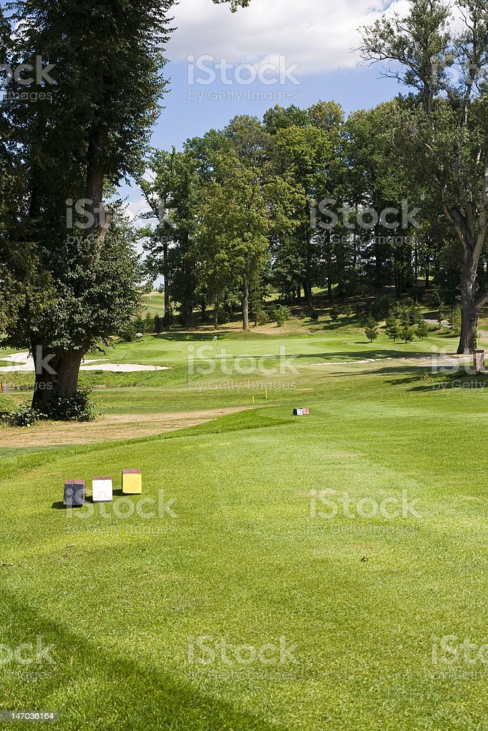 fairway of a beautiful golf course stock photo