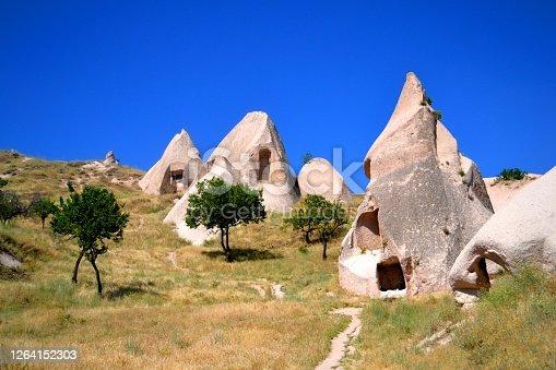 Interesting natural geological formation in Cappadocia, Turkey