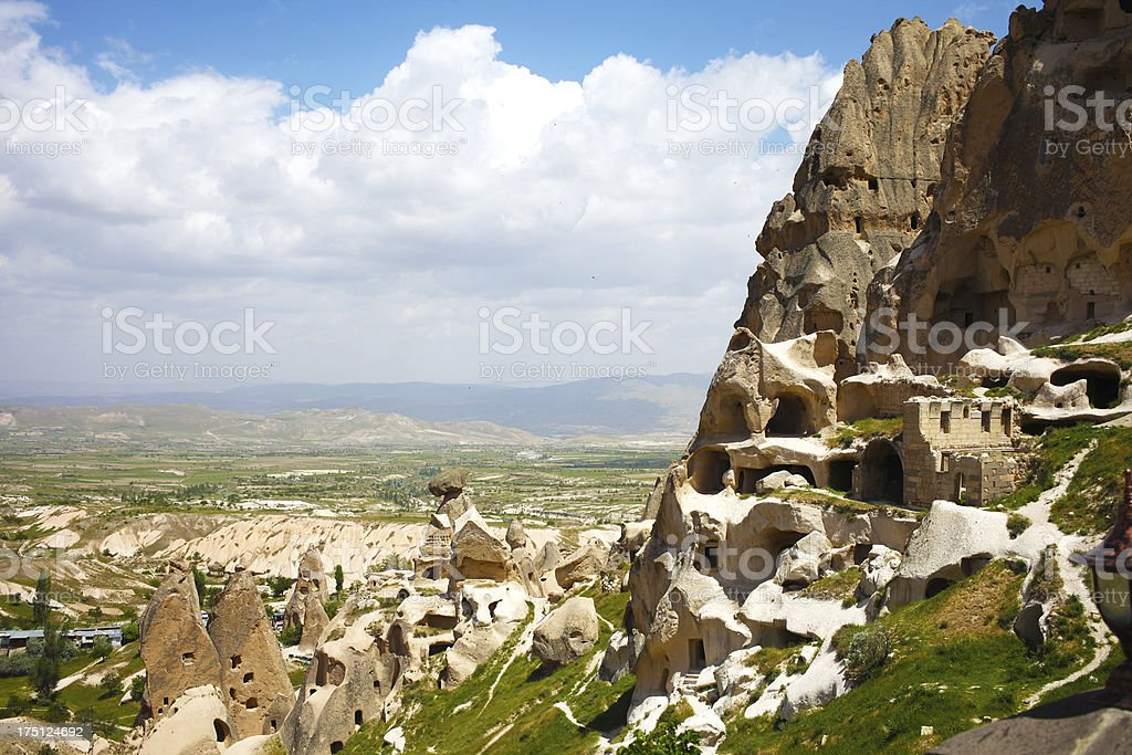 Fairy Chimneys In Cappadocia stock photo