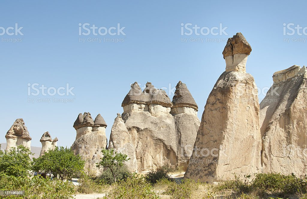 Fairy Chimneys in Pasabaglari, Cappadocia, Turkey stock photo