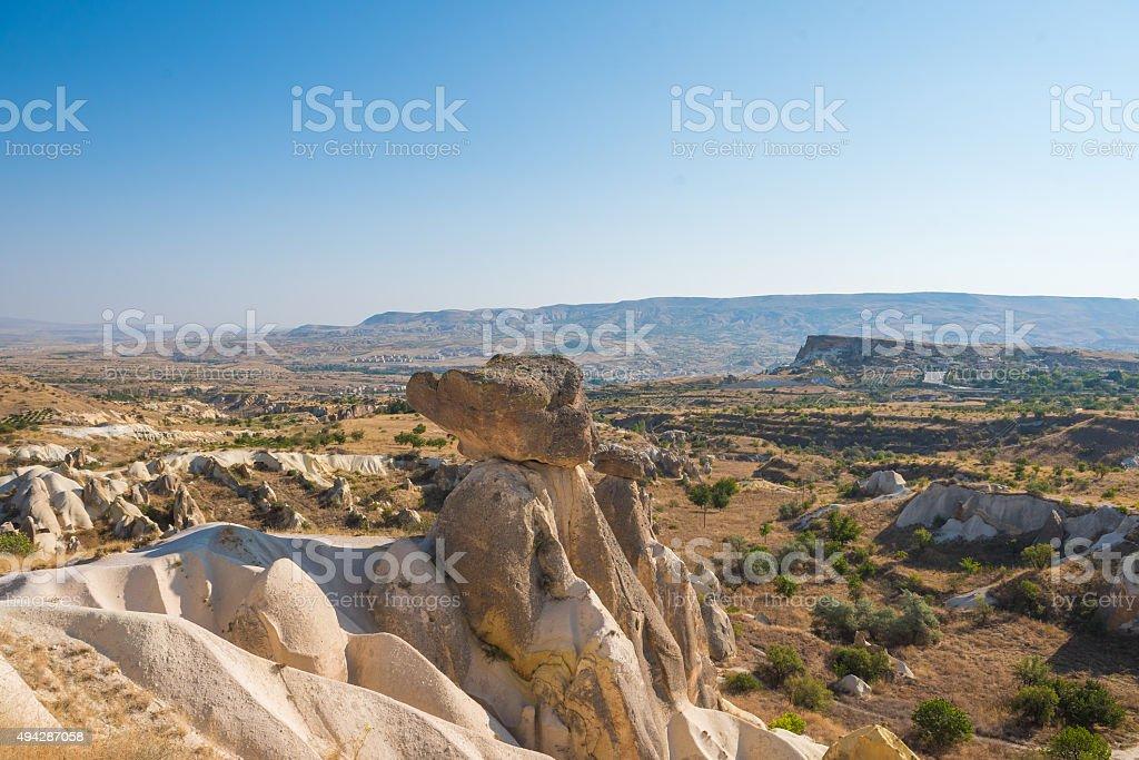 Fairy Chimneys near Urgup, Cappadocia, Turkey stock photo