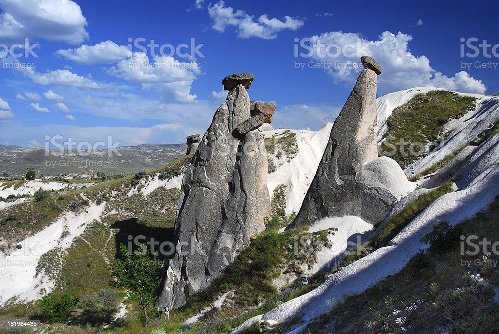 Fairy chimneys of Urgup, Cappadocia stock photo