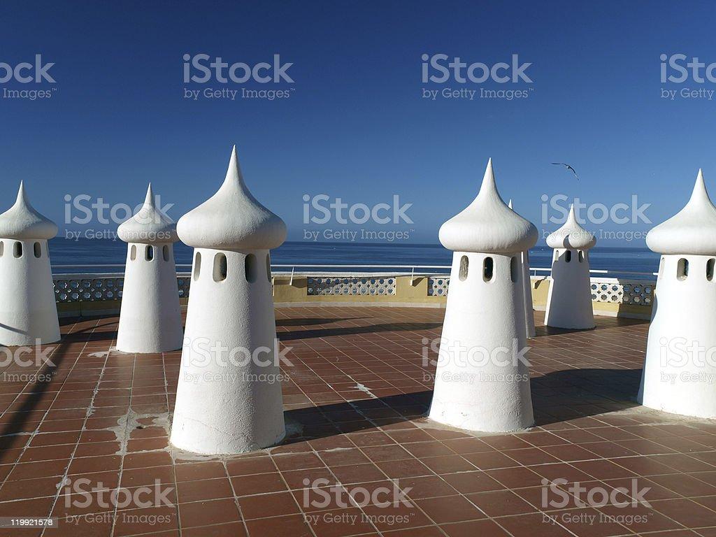 Chaminés de fada no terrace - fotografia de stock