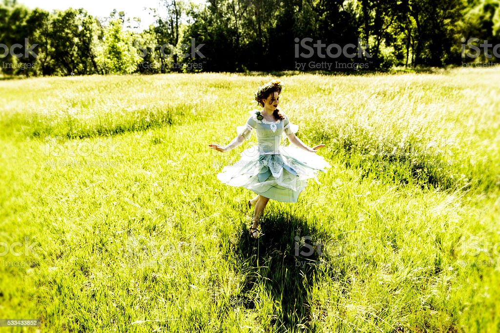 Fairy Dancing in Field stock photo