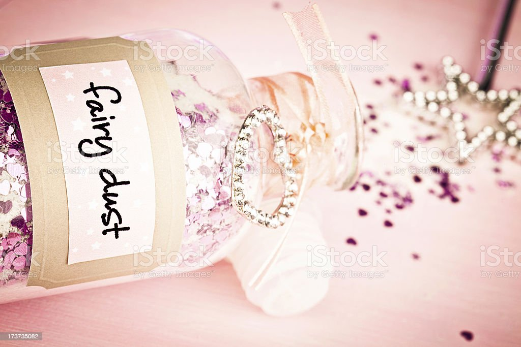 Fairy Dust and Magic Wand royalty-free stock photo