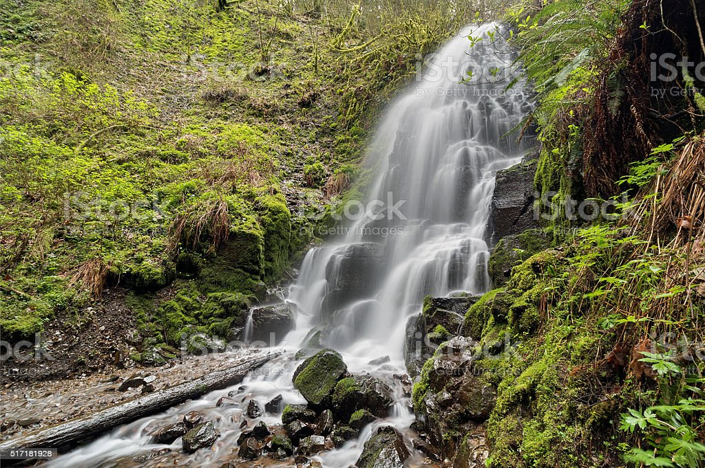 Fairy Falls in Spring stock photo