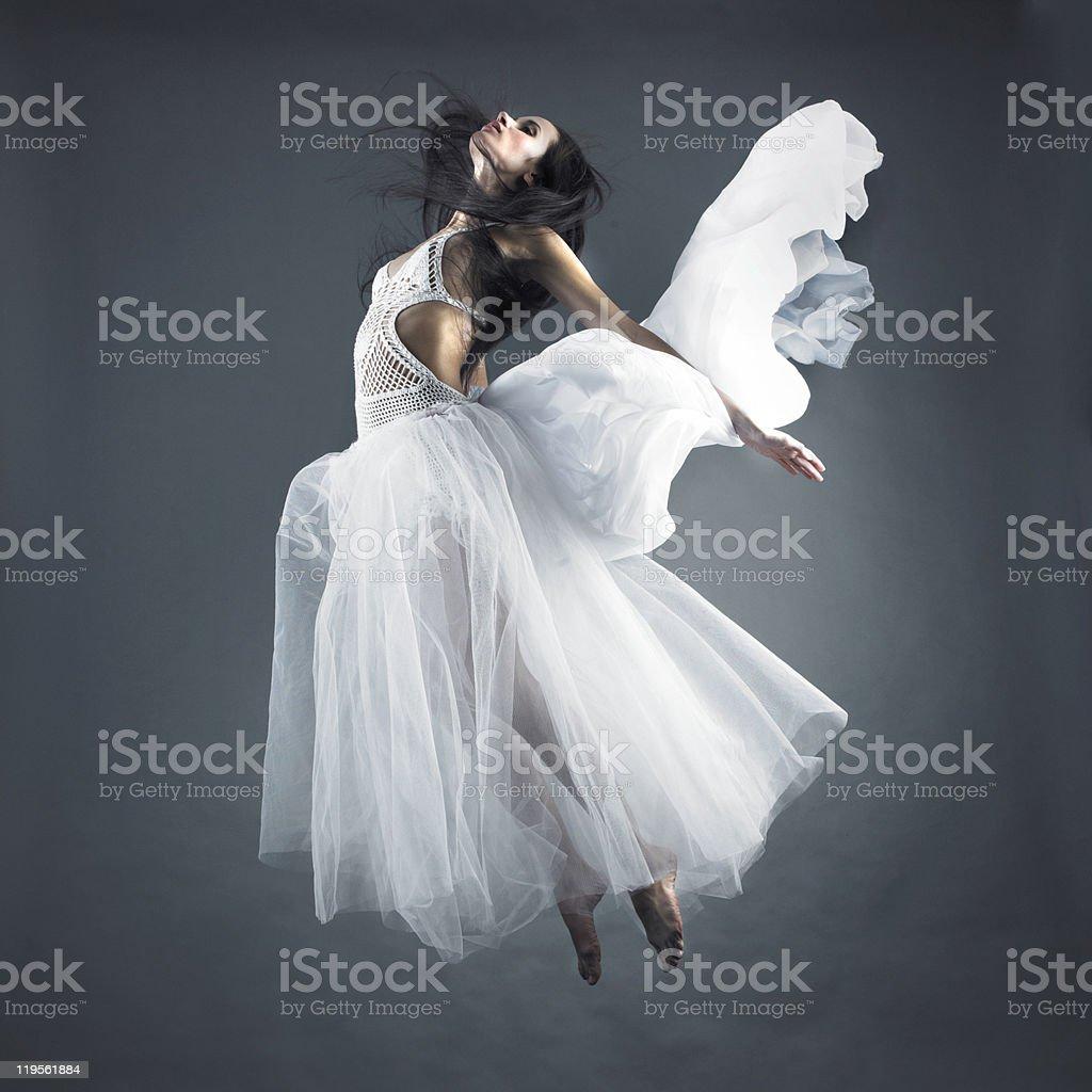 Fairy flying girl stock photo