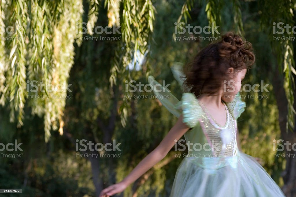 Fairy Girl Dancing royalty-free stock photo
