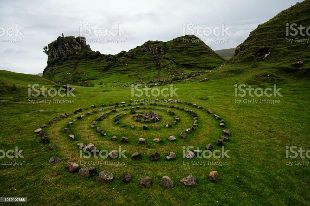 Fairy Glen in Isle of skye , Scotland, UK stock photo