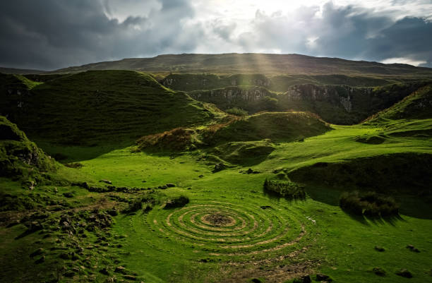 Fairy Glen - Isle Of Skye Fairy Glen - Isle Of Skye - Scotland isle of skye stock pictures, royalty-free photos & images