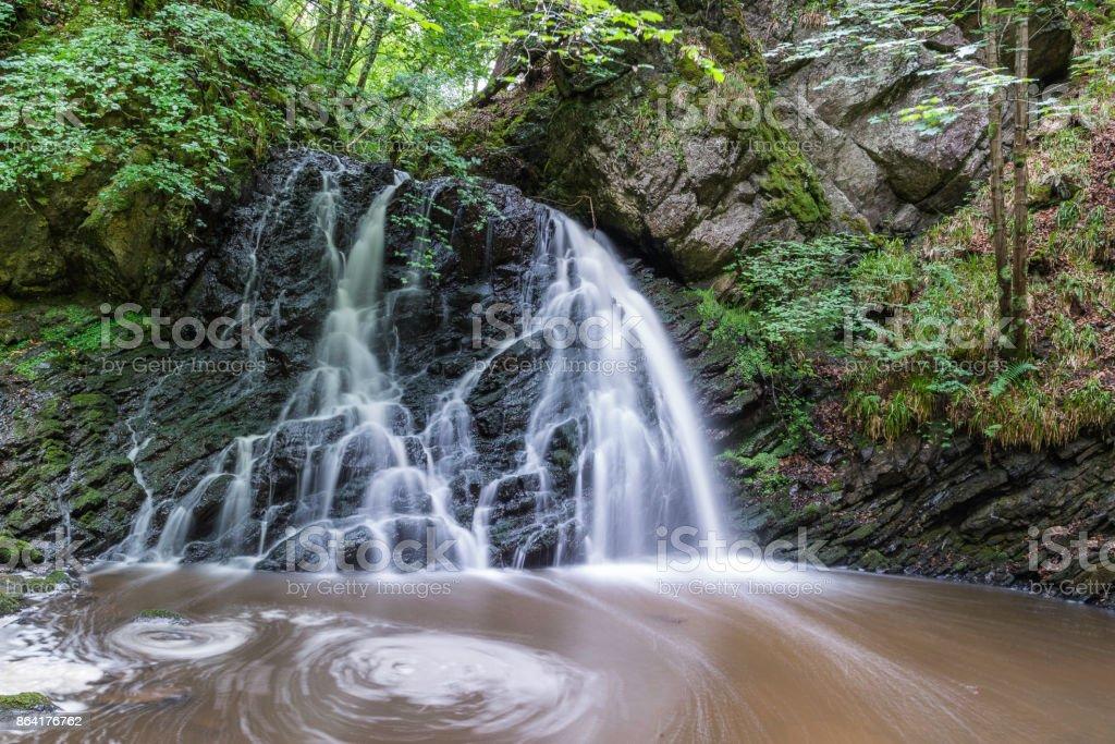 Fairy Glen Waterfalls underbrush foothpath royalty-free stock photo