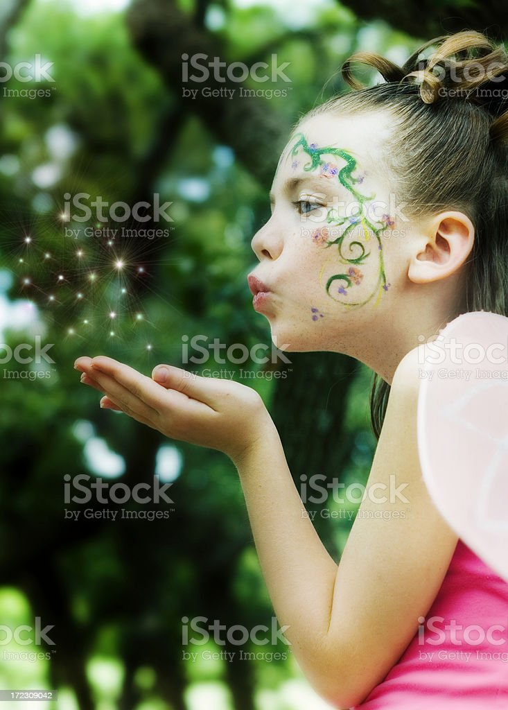Fairy in Enchanted Forest royalty-free stock photo