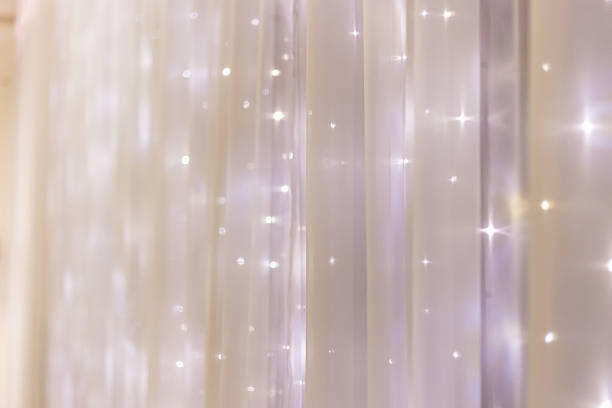 Fairy lights background stock photo