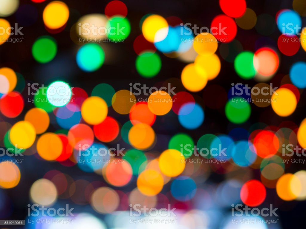 Fairy Lights Bokeh stock photo