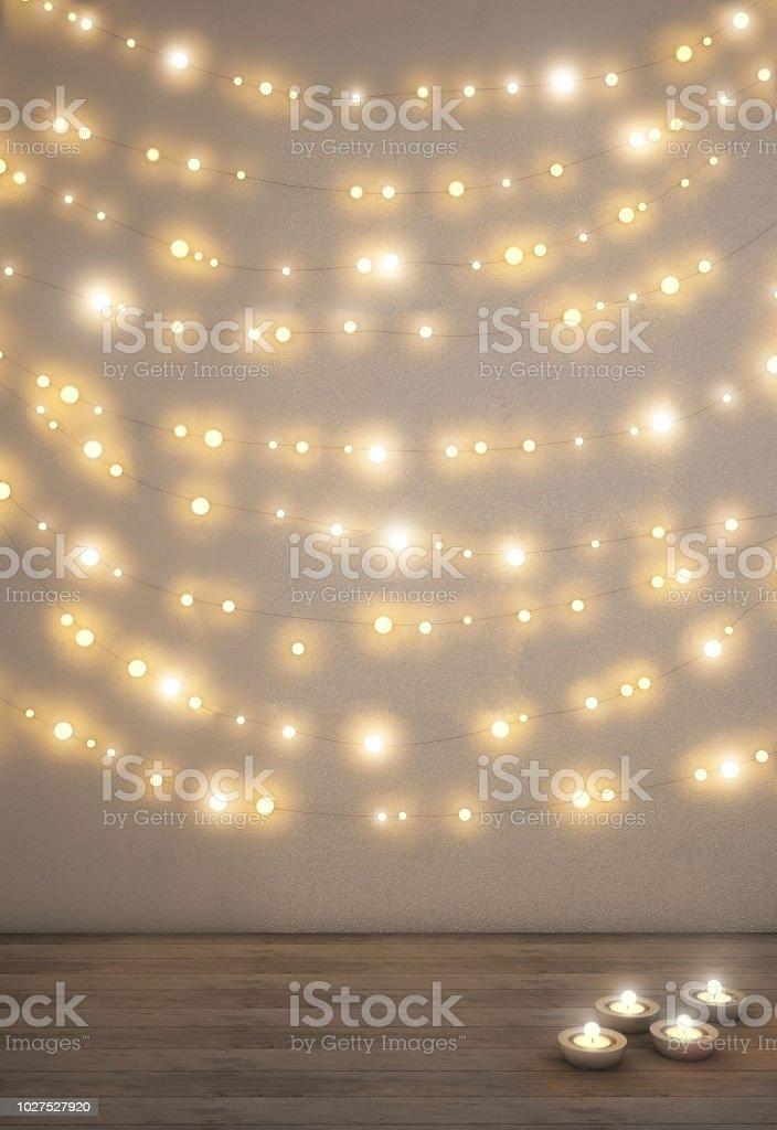 lichterketten wand