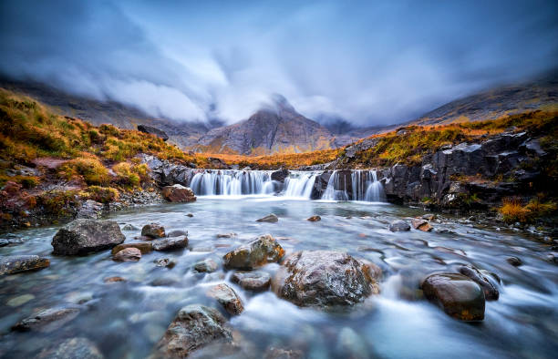 Fairy Pools, Glen Brittle, Isle of Skye, Scotland, UK stock photo