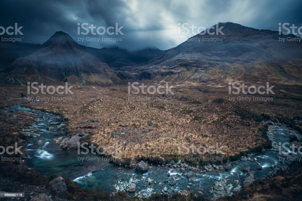 Fairy Pools, Glen Brittle, Isle of Skye, Scotland, UK stock photo