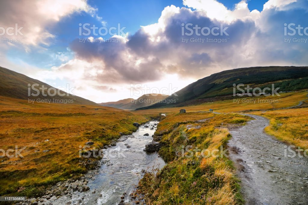 Fairy Pools in Isle of Skye, Scotland stock photo