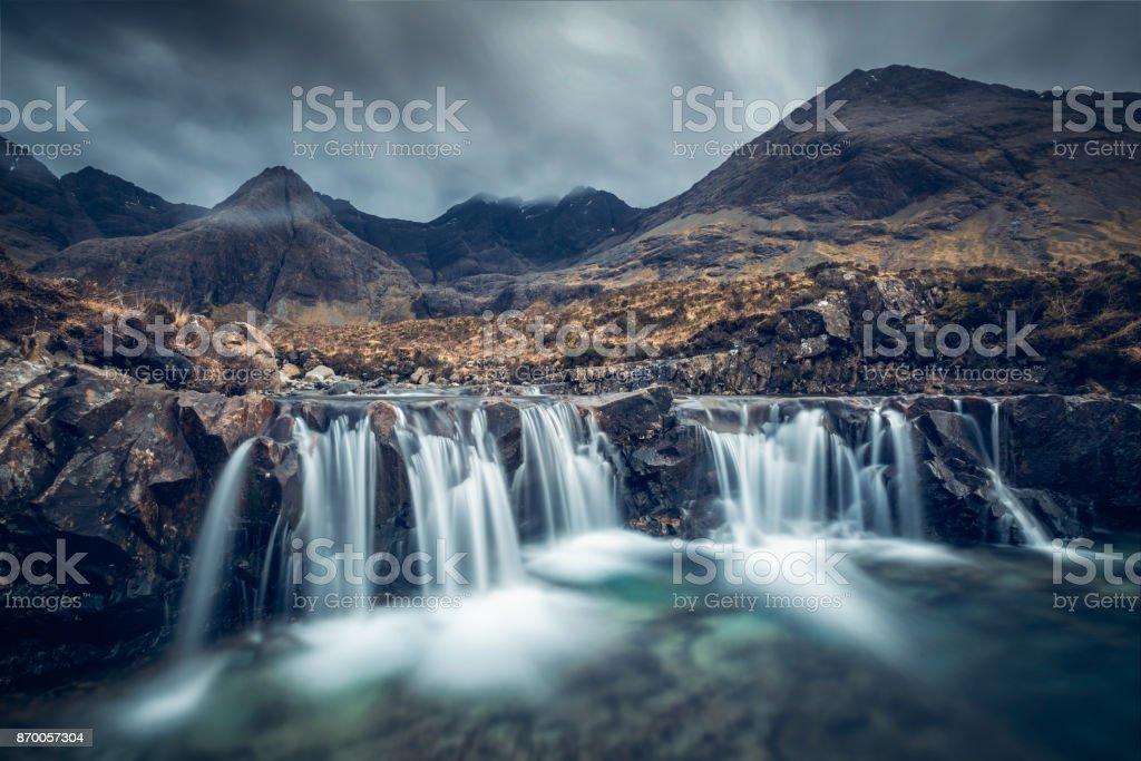 Piscinas de hadas, isla de Skye, Escocia, Reino Unido - foto de stock
