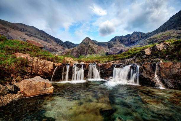 Fairy Pools United Kingdom Fairy Pools United Kingdom taken in 2015 isle of skye stock pictures, royalty-free photos & images