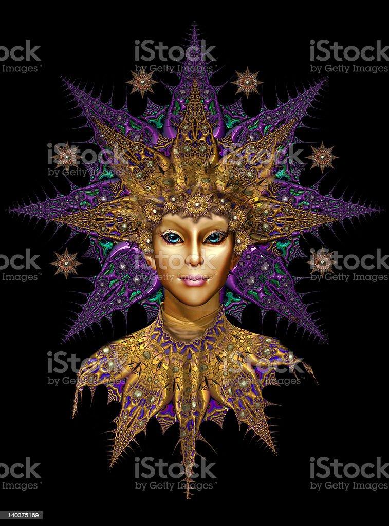 Fairy Queen Icon royalty-free stock photo