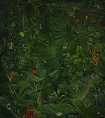 istock fairy rainy jungle with hide wild animals 471895985
