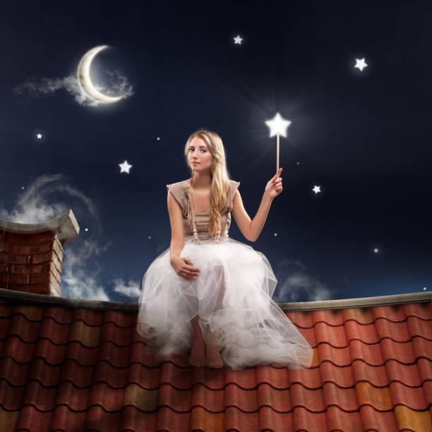 märchen-sternen - fee stock-fotos und bilder