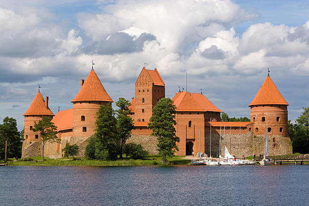 Fairy Tale Castle in Lithuania stock photo
