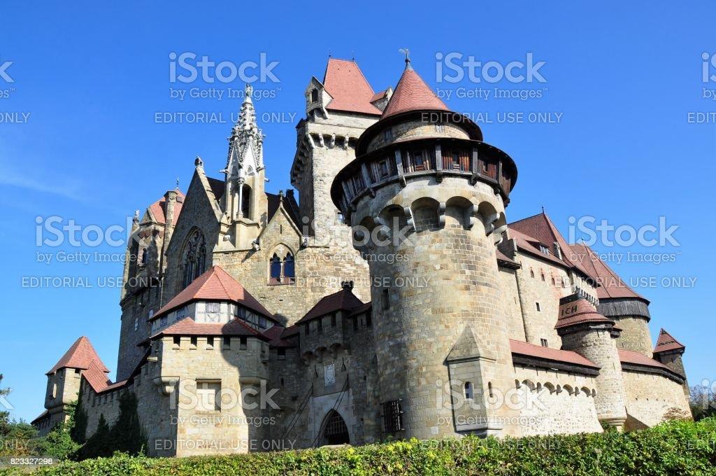 Fairy tale castle Kreuzenstein stock photo